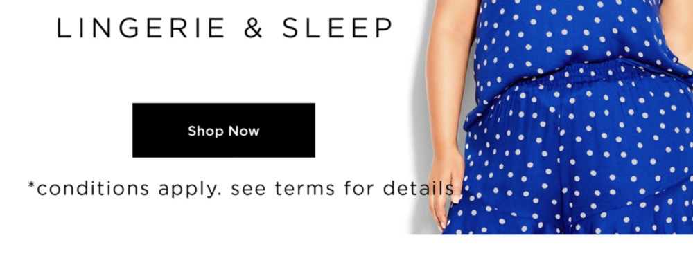 City Chic 60% Off* Sleep - *Conditions apply, See Terms for Details -  SHOP NOW