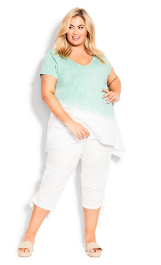 Cotton Cinch Capri - white