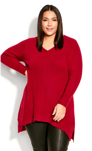 SWEATER DEEP VALLEY - Ruby Port - 5X
