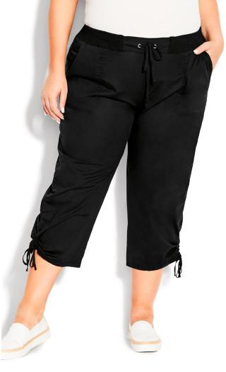 Cotton Cinch Capri - black