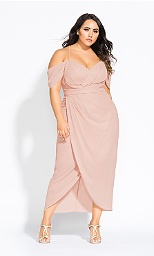 Entwine Maxi Dress - pink