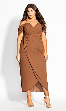Women's Plus Size Entwine Maxi Dress - toffee