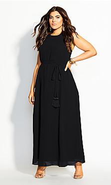 Halter Bliss Maxi Dress - black