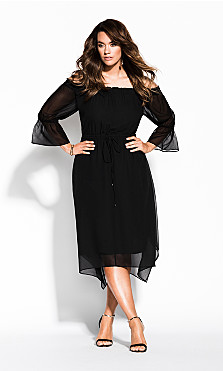 Women's Plus Size Reflections Dress - black