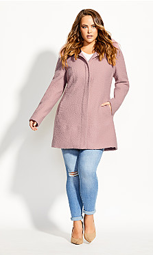 Plus Size Sweet Dreams Coat - blush