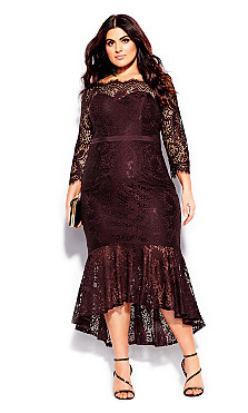 Women's Plus Size Estella Maxi Dress - oxblood