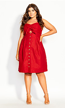 Sweetly Tied Dress - red