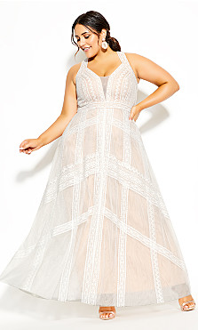Divine Whimsy Maxi Dress - ivory