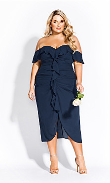 Women's Plus Size Va Va Voom Dress - navy