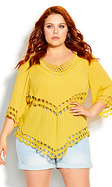 Plus Size Catalina Top - sunshine