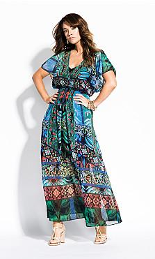Women's Plus Size Tangier Maxi Dress - black