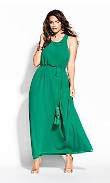 Halter Bliss Maxi Dress - green