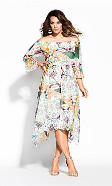Women's Plus Size Bilbao Dress - ivory