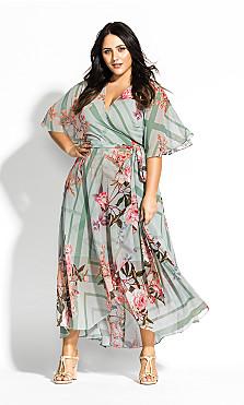 Women's Plus Size Sierra Scarf Maxi Dress - sage