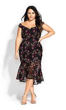 Women's Plus Size Decadence Dress - black