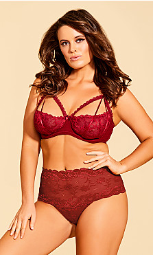 Women's Plus Size Eve Underwire Shelf Bra - Scooter Red