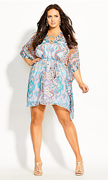 Plus Size Casablanca Tunic - ivory