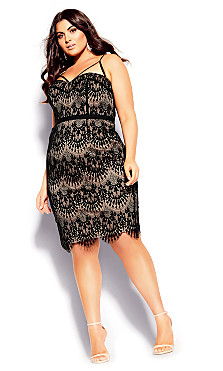 Plus Size Brianna Dress - black