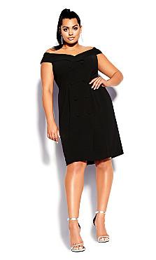 Plus Size Bitter Sweet Dress - black