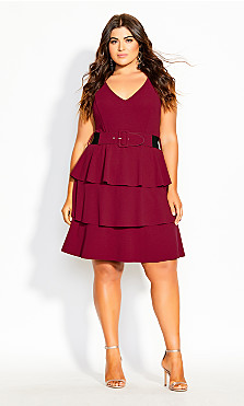 Sweet Essence Dress - raspberry
