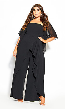 Plus Size Multi Way Shrug - black