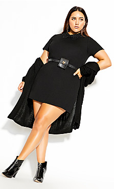 Cutie Lace Dress - black