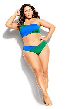 Capri Bikini Top - blue