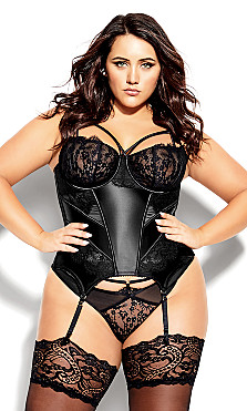 Delores Bustier - black