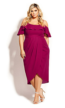 Flirtation Dress - rosebud