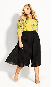 Pleat Away Pant - black
