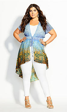 Plus Size Shanika Jacket - sky