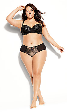 Plus Size Carmen Underwire Bra - black