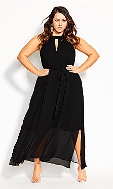 Illusions Maxi Dress - black