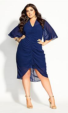 Drawn Up Dress - azure