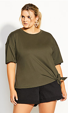 Love Tie Top - khaki