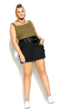 Plus Size Explorer Skirt - black