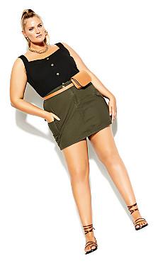 Plus Size Explorer Skirt - khaki