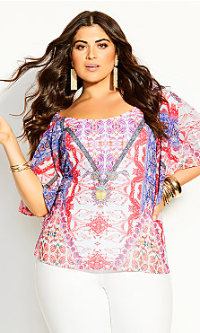 Plus Size Gingely Top - ivory