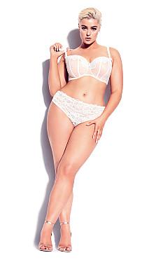 Plus Size Lisette Balconette Bra - Ivory