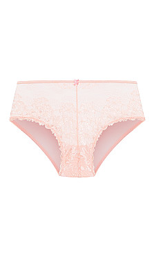 Plus Size Cosette Lace Hipster - blush