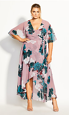 Rose Bud Floral Maxi Dress - rosebud