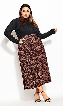 Plus Size Mini Tiger Skirt - mini tiger