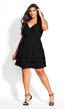 Plus Size Ramble Dress - black