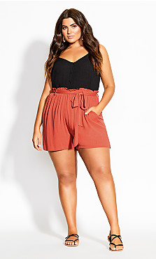 Tropical Tie Short - rust