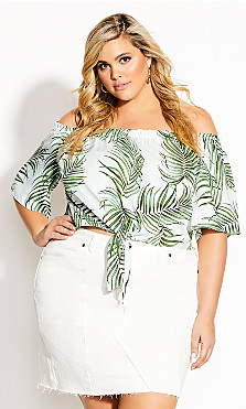 Plus Size Oahu Top - white