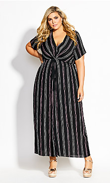 Knot Romance Maxi Dress - black