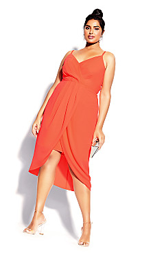 Sassy Affair Dress - coral
