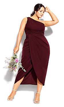 Plus Size True Love Dress - imperial