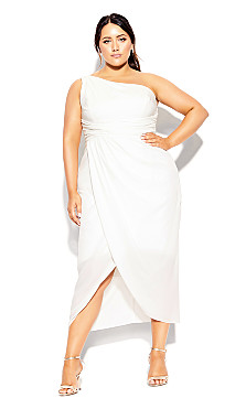 Plus Size True Love Dress - ivory