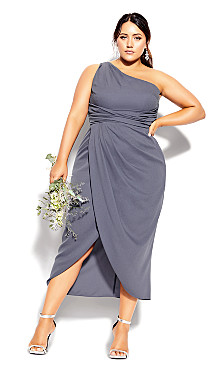 Plus Size True Love Dress - platinum